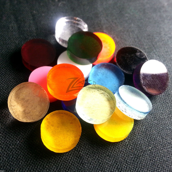 50mm Steampunk Goggle Lenses Circles Color Acrylic