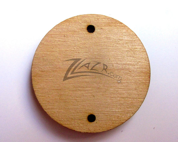 1 Quot X1 8 Quot Wooden Circle Disc Tag 2 Hole Family Birthday Date