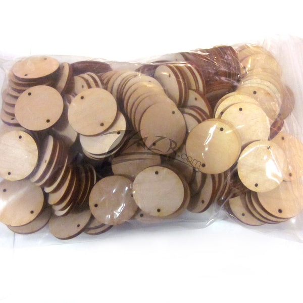 1 1 4 Quot X1 8 Quot Wooden Circle Disc Tag 2 Hole Family Birthday