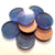"(0.625"") Medium BLUE 5/8"" x 1/8"" Circles Acrylic Disc Jewelry Earrings"