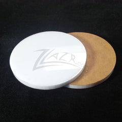 "WHITE 1.25"" x 1/8"" Circles Acrylic Disc Pendants"