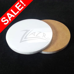 "SALE! WHITE .75"" x 1/8"" Circles Acrylic Disc Pendants (3/4"") - ON SALE - HUGE Discount"