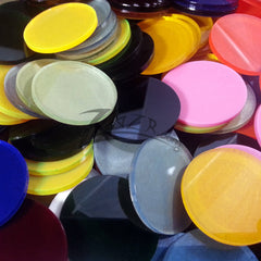 "2"" x 1/8"" Color Circles Medium Random Acrylic Disc"