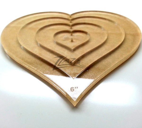 Template Nested Heart 6 Quot Acrylic Plastic Stencil Quilting