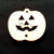 "Wood Holiday Halloween PUMKIN Jack-o-Lanter 1"" 2-Holes"