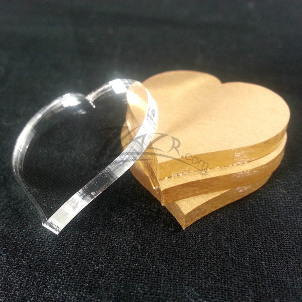 50 Or 100 1 Quot X1 8 Quot Clear Acrylic Heart Disc Plastic