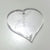 "HEART 1"" x 1/8"" 2-HOLES Clear Acrylic HEARTS Plastic Plexiglass Geometric Craft"