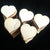 "Wooden HEARTS 1.25"" x 1/8"" Craft Flat Hard wood Shapes (1-1/4 inch) No Holes USA MADE!"