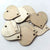 "THIN Wood HEARTS 1""x1/32"" 2-Hole Holiday"