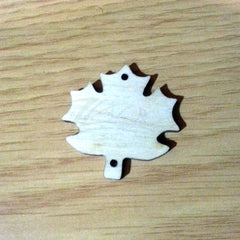 "Wood Holiday Maple Leaf 1.25"" 2-Holes"