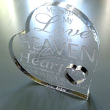 "Memorial Baby Heart(s) 4"" x 1/2"" Thick Clear Acrylic - Custom and Personalized"