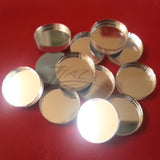 "(.75"") 3/4""x1/8"" MIRROR Circles Acrylic Disc"
