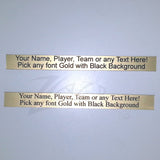 "Nameplates Gold Medium 5"" x 1/2"" (.5"") THIN Brushed Metal Sticky Back"