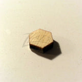 "Wood HEXAGONS Small 10mm x 1/8"" Craft Disc Flat Hard wood Shapes USA MADE!"