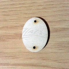 "Wood Holiday OVAL 1"" 2-Holes"
