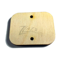 "Wood Blanks Rectangles 1"" x 1-1/4"" x 1/8"" 2-Holes - LANDSCAPE Style (1.25"")"