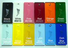 "!COLOR 1/16"" UPGRADE OPTION Acrylic Thickness - 4 COLORS!"