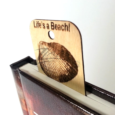 100 CUSTOM Wooden Book Markers Cards Shapes Natural Wood