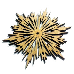 "Snowflake ""A"" Wood Holiday 1/8"" (3"" or 4"" sizes)"