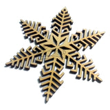 "Snowflake ""B"" Wood Holiday 3"" x 1/8"""