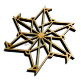 "Snowflake ""C"" Wood Holiday 3"" x 1/8"""