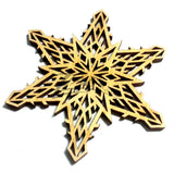 "Snowflake ""D"" Wood Holiday 3"" x 1/8"""