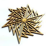 "Snowflake ""E"" Wood Holiday 3"" x 1/8"""