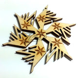"Snowflake ""F"" Wood Holiday 3"" x 1/8"" - ENGRAVED"