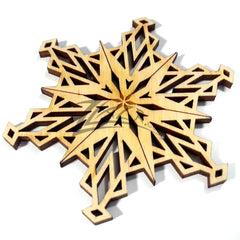 "Snowflake ""O"" Wood Holiday 1/8"""
