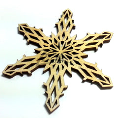 "Snowflake ""Q"" Wood Holiday 1/8"""