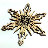 "Snowflake ""R"" Wood Holiday 1/8"""