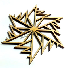 "Snowflake ""S"" Wood Holiday 1/8"""