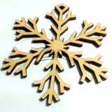 "Snowflake ""U"" Wood Holiday 1/8"""