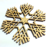 "Snowflake ""V"" Wood Holiday 1/8"""