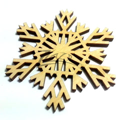 "Snowflake ""W"" Wood Holiday 1/8"""