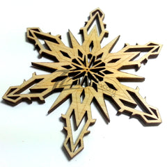 "Snowflake ""X"" Wood Holiday 1/8"""