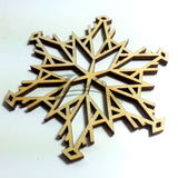 "Snowflake ""I"" Wood Holiday 1/8"""