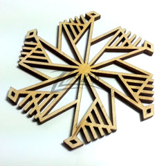 "Snowflake ""M"" Wood Holiday 1/8"""