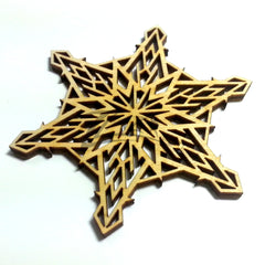 "Snowflake ""N"" Wood Holiday 1/8"""