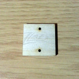 "Wood Holiday Square 1.25"" 2-Holes"