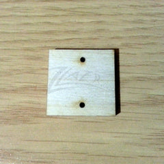 "Wood Holiday SQUARE 1"" x 1/8"" 2-Holes"