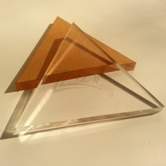 "3"" x 3"" x 1/4"" Equilateral Triangle Clear Acrylic Plastic Plexiglass"