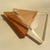 "1.5"" x 1.5"" x 1/4"" Equilateral Triangle Clear Acrylic Plastic Plexiglass"