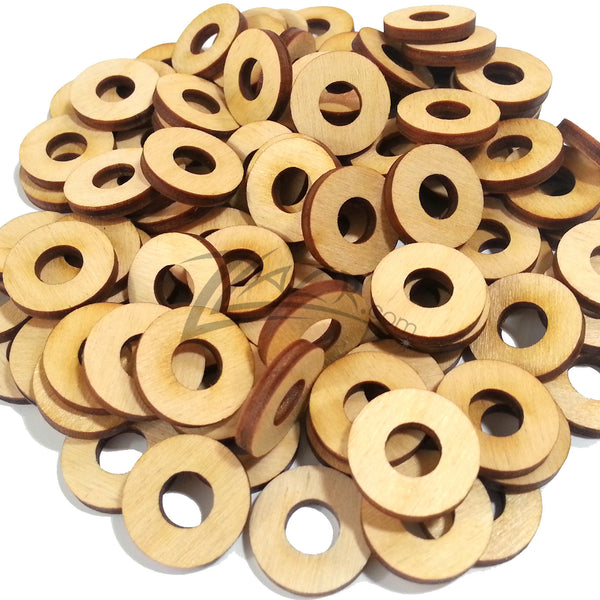 Washer Circles 3 4 Quot X1 8 Quot Wood 5 16 Quot Hole Disc Zlazr