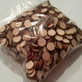 "1 LB BULK BAG 1/2"" x 1/8"" - (pound) Small Solid Wood Craft Disc DISCOUNTED!"