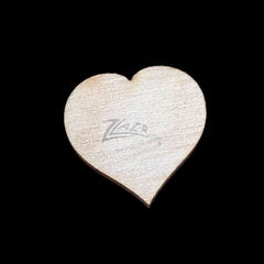 "Wooden HEARTS 1"" x 1/32"" THIN Craft Flat Hard wood Shapes USA MADE! - No Holes"