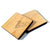"Wood Small 5/8"" x 1/8"" Squares Craft Tags Flat Hard wood Shapes USA MADE!"