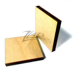 "Wood Squares 2""x1/8"" Craft Tags Flat Hard wood Shapes USA MADE!"