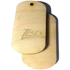"Wooden Dog Tags 2"" x 1-1/8"" Craft Dog Tags Flat Hard wood Shapes USA MADE!"