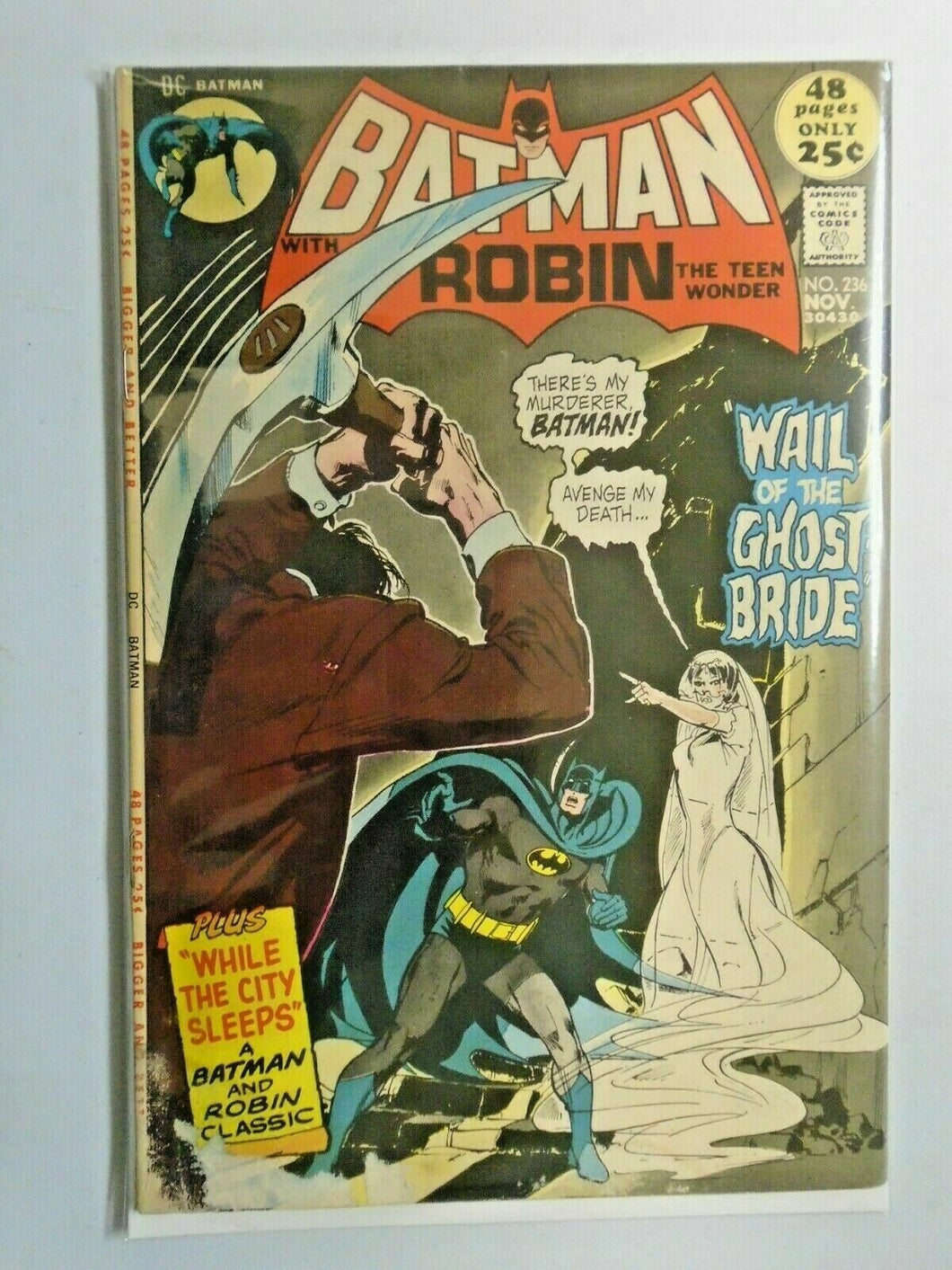 Batman #236 water stains 3.0 (1971)